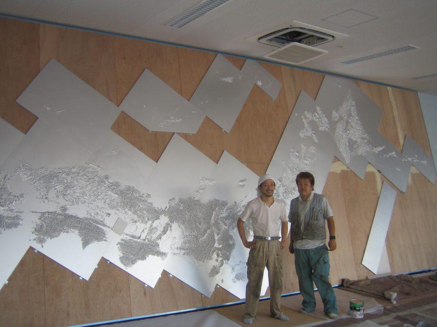 一番大型の立体地図