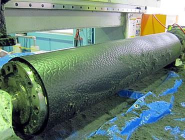 大型樹脂製エンボスロール(量産対応)