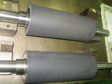 スチールマッチの樹脂製エンボスロール