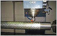 製紙用ジュラルミン製エンボスロール